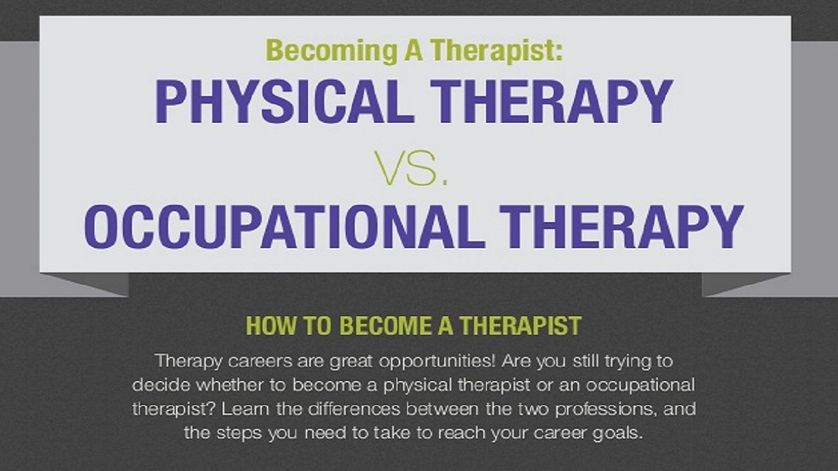 Careers in physical therapy - Becoming A Therapist Physical Therapy Versus Occupational Therapy Healthcare Careers